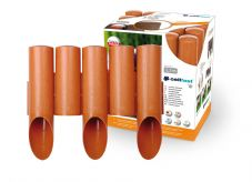 Garden Plastic Palisade 7.5ft - 2.3m Long - 5 elements STANDARD in Brick Red Color